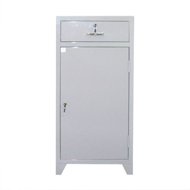 Armário ferramenteiro com 01 porta, 01 prateleira e uma gaveta com fechadura