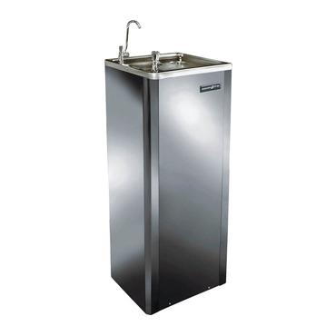 Bebedouro de pressão inoxidável - Coluna água gelada - Dimensão 112 x 32 x 29