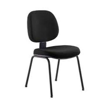 Cadeira fixa executiva sem braço com 4 pés