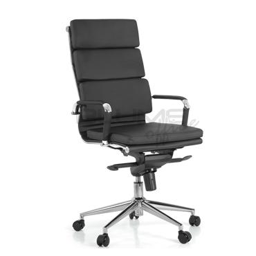 Cadeira presidente com base cromada com forração removível BLM 08P