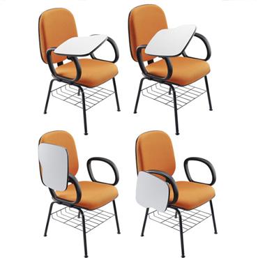 Cadeira universitária com prancha móvel