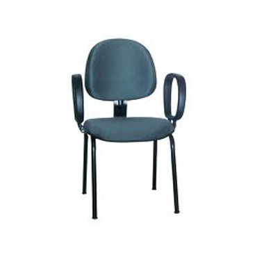 Cadeira fixa executiva com braços corsa