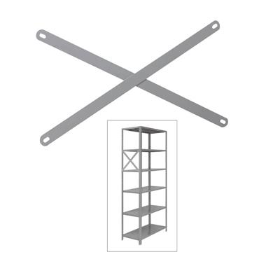 Reforço de estante lateral para prateleira de 42