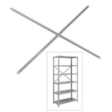 Reforço em X para fundo de estante de aço